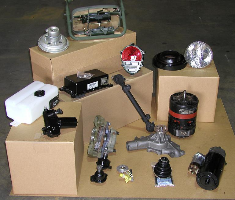 Parts and assemblies for military vehicles